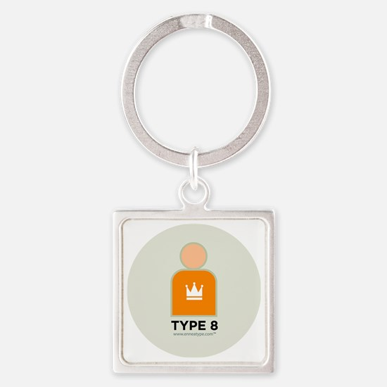 8-Asserter With Number Square Keychain