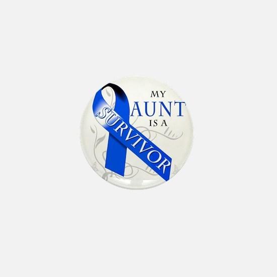 My Aunt is a Survivor (blue) Mini Button
