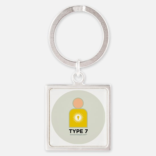 7-Enthusiast With Number Square Keychain
