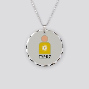 7-Enthusiast With Number Necklace Circle Charm