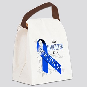 My Daughter is a Survivor (blue) Canvas Lunch Bag