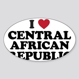 I Love Central African Republic Sticker (Oval)
