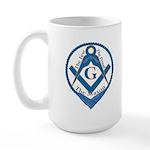 The Few, The Proud, The Mason Large Mug