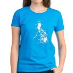 Philippines Rough Map Women's Dark T-Shirt