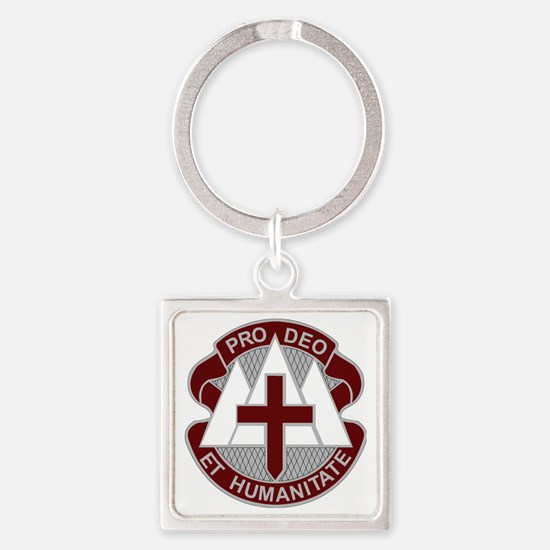 Fort Carson MEDDAC Square Keychain