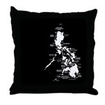 Philippines Rough Map Throw Pillow