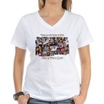 Faces of SMA Women's V-Neck T-Shirt