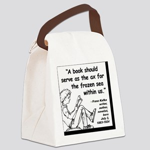 Kafka Book Quote 2 Canvas Lunch Bag