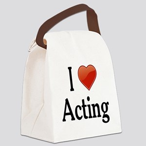 I Love Acting Canvas Lunch Bag