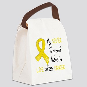 Gold Sister Life Canvas Lunch Bag