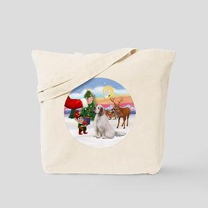 R-Treat-ClumberSpaniel Tote Bag