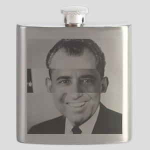 I am Not a Crook! Nixon Obama Flask