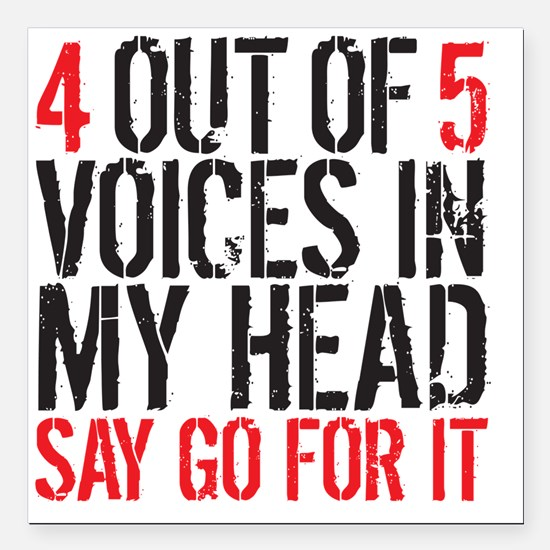 """4 out of 5 Square Car Magnet 3"""" x 3"""""""