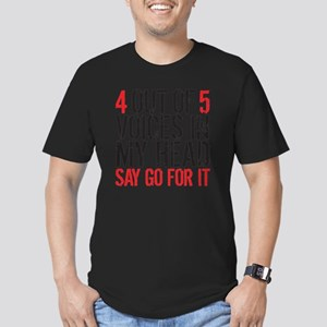 4 out of 5 Men's Fitted T-Shirt (dark)