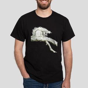 Graphic Gray Squirrel Dark T-Shirt