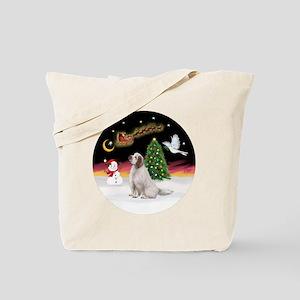 R-NightFlight-ClumberSpaniel Tote Bag