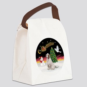 R-NightFlight-ClumberSpaniel Canvas Lunch Bag