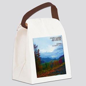 James 4:14 Canvas Lunch Bag