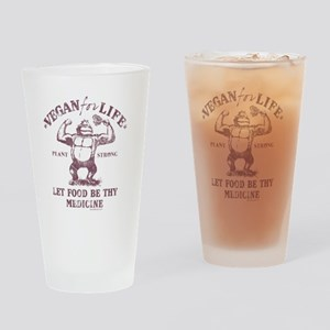 Vegan for Life Drinking Glass