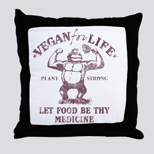 Vegan for Life Throw Pillow