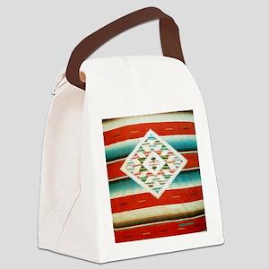 Mexican Serape Flip Flops Canvas Lunch Bag