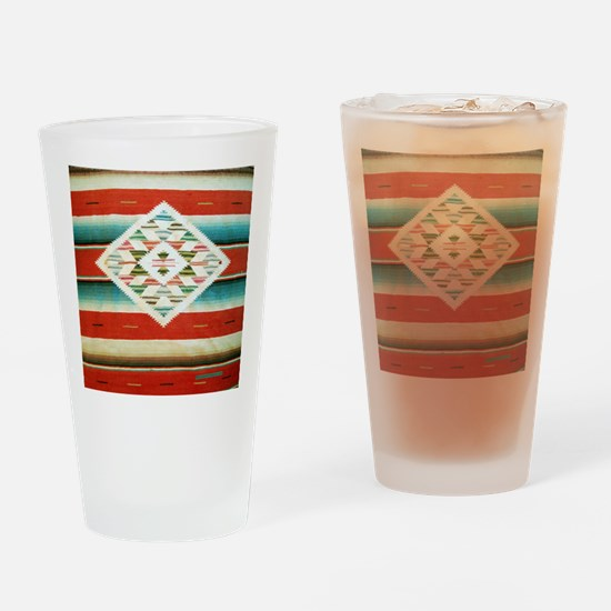 Mexican Serape Flip Flops Drinking Glass