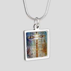 John 3:16 Silver Square Necklace