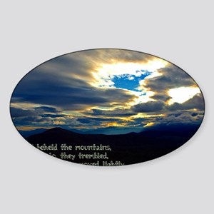 Jeremiah 4:24 Sticker (Oval)