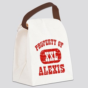 Property of Alexis Canvas Lunch Bag