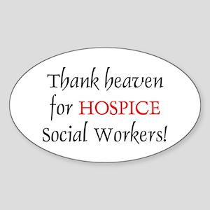 Thank Heaven Hospice BRT Oval Sticker