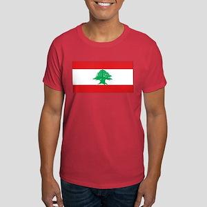 Lebanon Lebanese Blank Flag Dark T-Shirt