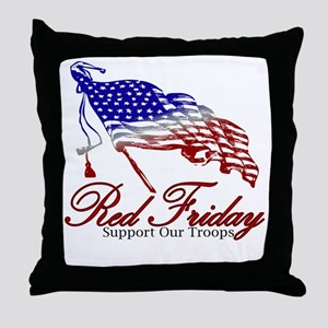 Red support Throw Pillow