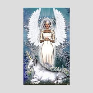 Angel and Unicorn Sticker (Rectangle)
