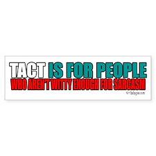 Tact Bumper Sticker