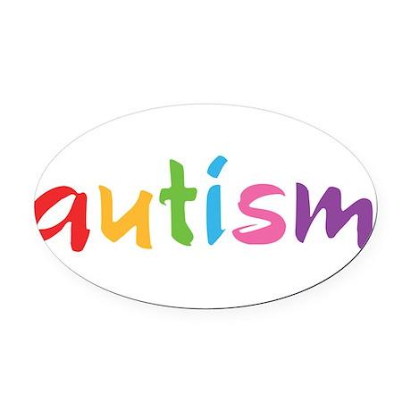 Proud Autism Oval Car Magnet