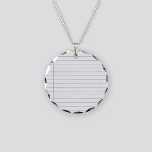 School paper Necklace Circle Charm