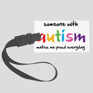 Proud Autism Large Luggage Tag