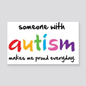 Proud Autism Rectangle Car Magnet