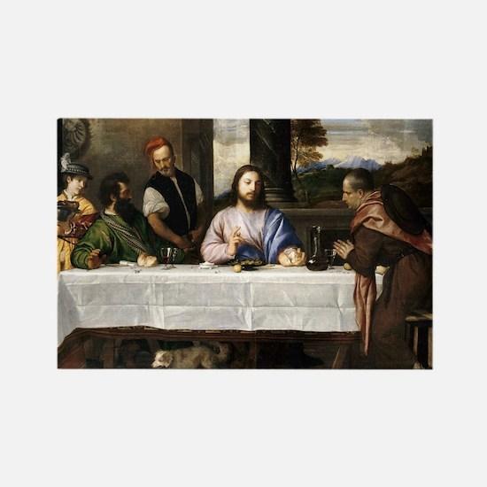 Supper of Emmaus - Titian - c1535 Magnets