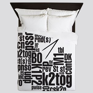 K.A. Black Queen Duvet