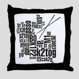 K.A. Black Throw Pillow