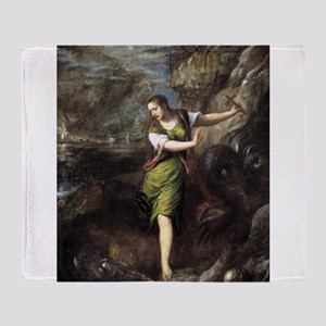 St Margaret and the Dragon - Titian - c1559 Throw