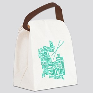 K.A. Blue Canvas Lunch Bag