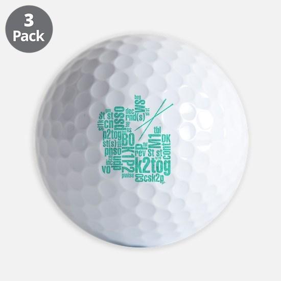 K.A. Blue Golf Ball