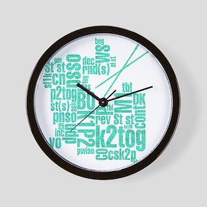K.A. Blue Wall Clock