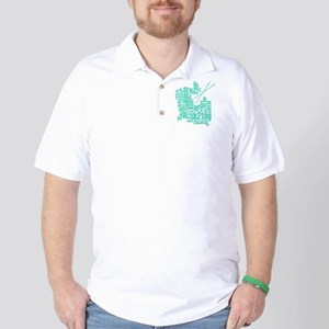 K.A. Blue Golf Shirt