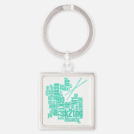 K.A. Blue Square Keychain