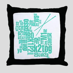 K.A. Blue Throw Pillow