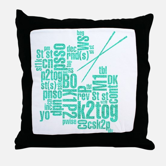K.A. Blue Throw Pillow