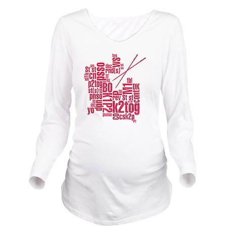 K.A. Pink Long Sleeve Maternity T-Shirt